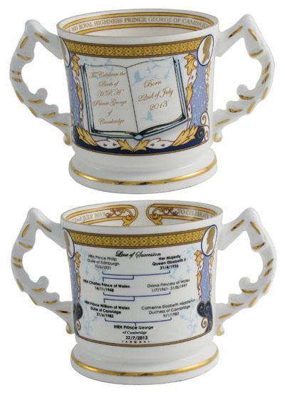 BIRTH 2013 AYNSLEY ROYAL BABY /'PRINCE GEORGE OF CAMBRIDGE/' LOVING CUP Ltd//Ed