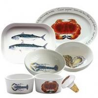<span>Jersey Pottery's Fruits de Mer range of ceramics, as seen at Borough Market, was inspired by the marine-life rich waters surrounding the Channel Islands, home to some of the finest fish and shellfish in the world. Manufactured by Jersey Pottery with fish designs from original paintings by artist Richard Bramble, the ceramic tableware collection of plates, dishes, mugs, bowls and platters is made of durable porcelain that can stand up to the rigours of professional use. The ceramics are complemented by co-ordinated accessories such as tablemats and coasters. Instantly recognisable, Jersey Pottery&rsquo;s Fruit de Mer with designs by Richard Bramble has become a classic and can now be found all over the world gracing tables of beautiful homes and fine restaurants. Fruits de Mer is made from durable porcelain (mugs from bone china).</span>