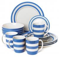 "<span><span style=""color: #0000ff;"">&nbsp;The classic Cornish blue and white stripey tableware has been made since 1926, and it has become quite the icon of British design. Our blue Cornishware stripes make for perfect presents. Mostly boxed.</span><br /></span><br /><strong>&nbsp;&nbsp;Please be aware that the colour of this range has slight inconsistencies. The blue might vary slightly and the background off/white may vary slightly. This has been normal for this range for some years.</strong><br /><strong>&nbsp; &nbsp;Please contact us if you are looking for a particular shade of colour (from previous experience). We may be able to help.</strong>"