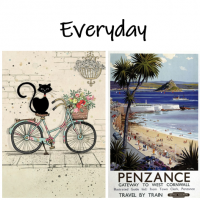'Everyday' Greetings Cards.&nbsp;<br /><br />Almost all are blank inside (the few exceptions state in their description about an included message).<br /><br />