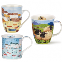 Lovely mugs with nature landscapes and other scenes.