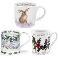 Christmas Mugs at Morrab Studio.