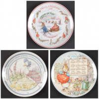 Retired Annual Peter Rabbit Plates by Wedgwood. Including Birthday plates, Christmas plates and Calendar plates.<br /><br />Remains of our stock. These items are now discontinued.