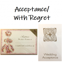Shop for Wedding Acceptance or Regret Cards at Morrab Studio
