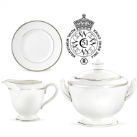 "<p class=""bodytext"">The lavish richness of platinum edging on pristine white bone china provides a stunning, understated elegance. There is a platinum trim on this pattern.</p>