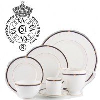<span><strong>Now Discontinued. These items are available from the stock we have left.</strong><br />Royal Worcester Carina has produced in a choice of Blue or Green from 1993 to 2004. The gold trim on this pattern means it is not safe for use in the microwave.<br /><br />Fine Bone China Tableware by Royal Worcester.</span>