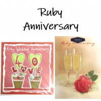 Shop for Ruby Wedding Anniversary cards at Morrab Studio<br /><br /><strong>40th</strong> Wedding Anniversary cards