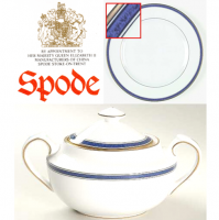 <span><strong>Now Discontinued. These items are available from the stock we have left.</strong><br /><br />Fine Bone China by Spode.&nbsp;<br /><br />Spode Lausanne</span><span>&nbsp;(Y8579) was produced from 1992 to 2004. The gold trim on this&nbsp;</span><span>pattern</span><span>&nbsp;means it is not safe for use in the microwave.</span>
