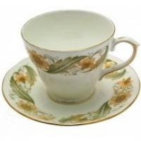 <span>Duchess Greensleeves</span><span>&nbsp;has a classic floral design of green, brown and shades peach with a gold band on pure white fine English bone china.&nbsp;<span>It is one of the most popular designs from the Duchess Pottery and&nbsp;also represents good value for an English made bone china set.</span></span>