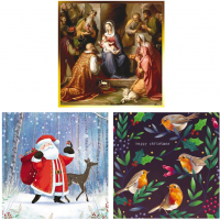 This is our selection of Christmas Cards at Morrab Studio.<br /><br />Including packs and individual cards.