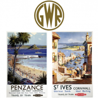 Reproductions of Old Railway Posters created to advertise holidays in Penzance and St. Ives, Cornwall about 100 years ago. Printed on High Quality Art Paper with fade resistant inks.