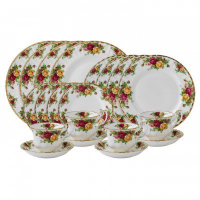 Revel in the beauty of vintage flair with the Old Country Roses Collection, a tableware set inspired by a quintessentially English country garden with roses in full bloom. A long-standing testament to timeless style and elegant craftsmanship, Old Country Roses originally launched in 1962 and is the epitome of fine English tea ware and world-renowned for being synonymous with Royal Albert.&nbsp;<br /><br />Clusters of red, pink and yellow roses have been designed in flamboyant flair with their striking edges and unique shape - complemented by subtle ruffling and gold gilding. Discover a full service that is sure to strike attention from your guests and create the perfect mood for traditional fare in a modern setting.