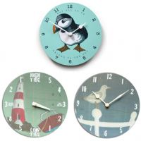 <span>Time Clocks and Tide Clocks made from melamine</span><span>. <br /><br />We have a range of clocks with designs such as lighthouses, seagulls and puffins. <br /><br />These make perfect gifts for boaters, surfers, swimmers, sailors, fisherman, beach homeowners and beachcombers.</span>