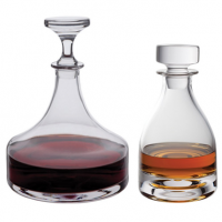 A decanter makes a practical and elegant way to serve and store wines and spirits. They are a favourite gift idea and can be easily engraved for that special occasion.