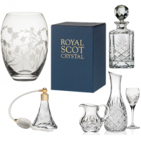 <p>Great Hand Cut Crystal Glass.&nbsp;<br /><br /><span>All hand cut, engraved and Boxed. Most in silk-lined presentation boxes.</span></p>