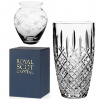 Cut Glass and Engraved Glass.<br /><br />Giftware ranges from Royal Scot Crystal. Including Vases, Bowls etc.&nbsp;<br /><br />All boxed in a Royal Scot Blue cardboard box.&nbsp;