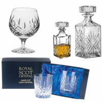 <span><strong>Special Offer on this range.&nbsp;50% Off Normal Retail Price on Certain Items.</strong></span><br /><br />Drinking Glasses from Royal Scot Crystal. All hand cut and Boxed, most in silk-lined presentation boxes.