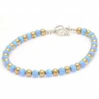 A beautiful selection of hand made sterling silver and gold filled bracelets and bangles, some set with pearls and blue or pink opals - designed so you can mix and match for a great look!