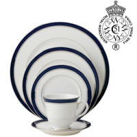 "<p class=""bodytext"">Showing a classical strength and no-frills elegance, Howard Cobalt understandably was favored by 19th-century British aristocrats. Still popular for today's formal affairs, the beautifully translucent fine bone china is rimmed with a generous band of cobalt blue, luxuriously accented on either side with bands of either 22-carat gold or platinum. The extensive collection includes place settings and serving pieces, a tall graceful coffeepot, and cups in a choice of footed or straight-sided.&nbsp;</p>