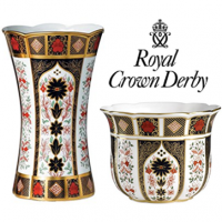 Royal Crown Derby: Established in 1750. One of the most exclusive names in world ceramics. Also one of the few still entirely made in England.