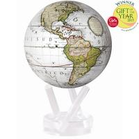"Mova Globe - 4.5"" Cassini Terrestrial White with Base MG-45-WCT"