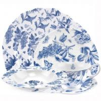 The Botanic Blue collection by Portmeirion is reminiscent of a French antique toile fabric with soft blue floral motifs set against a fresh white background. <br /><br />Featuring a delicate spot background and delightful scalloped edges, Botanic Blue has a charming antique style and comes beautifully packaged making it a truly perfect gift. <br /><br />The classic Botanic Blue design has a subtlety that ensures a timeless appeal. And, as you can expect from Portmeirion, it is made from the highest quality materials.