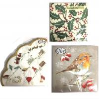 Shop for Christmas Napkins.<br /><br />IHR Ideal Home Range is universally recognised as being the best napkin and tissue printers. Licences include Emma Bridgewater, The V&A Museum and Burleigh Pottery to name but a few. In addition there is a very wide range of IHR own designs. Based in North West Germany, IHR is a luxury tableware company, that is very eco-conscious. IHR designs their own products in house, and for the paper napkins, they work with selected artists.<br /><br />The main products are paper napkins and we produce these in 4 different shapes and sizes. All designs start with the lunch napkin, 33 x 33 cm in size, and are printed using eco-friendly and food safe water based inks on the preferred industry standard FSC accredited paper.