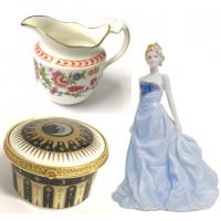 Royal Worcester Figurines, China Boxes, Jugs and other ornaments.<br /><br />Most of this items were made in England.