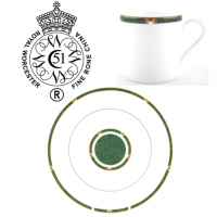 <strong>Now Discontinued. These items are available from the stock we have left.</strong><br />Royal Worcester Carina has produced in a choice of Blue or Green from 1993 to 2004. The gold trim on this pattern means it is not safe for use in the microwave.<br /><br />Fine Bone China Tableware by Royal Worcester.