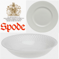 <p><strong>Now Discontinued. These items are available from the stock we have left.</strong><br />A lovely union of clean white color and inviting texture, Mansard makes a classic yet fresh complement to today's table settings. First introduced in the 1920s and named after the famous French architect Francois Mansard, the fine bone china features smooth centers and interiors offset by an embossed diamond pattern and subtly raised trimming. The Mansard shape is traditional yet streamlined with wide borders on plates, low round bowls, and narrow, delicately arched handles and spouts. Finished with a crisp semi-gloss glaze, the extensive tableware line transitions from elegant casual to classic formal dining with graceful ease. Mansard has also been used as the basis for many other patterns including Continental Views, Elaine, Forget Me Not, and Virginia; as well as commemorative plates for historic places. There was also a version trimmed in gold as well as one trimmed in platinum.</p>