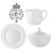 Royal Worcester Warmstry<span><span>&nbsp;is a delightful collection of traditional white fine bone china. With subtle yet distinctive ripple detailing, this range offers a pure and elegant backdrop where food takes centre stage.<br /><br /></span></span>Made from premium fine bone china, Royal Worcester Warmstry is durable and strong. Ideal for restaurant use, all pieces are dishwasher and microwave safe, and also have a superior glazed finish which makes them highly durable and chip resistant.
