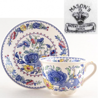 <span>Mason's Ironstone was founded by a family of potters who traded under various names in the early 19th century but was finally named Mason's Ironstone Ltd in 1969.&nbsp;<br /><br /><span>Mason's Regency pattern is one of those distinctive ranges that can be immediately recognized from the other side of the room. Regency's&nbsp;predominantly blue colouring and full patterning can be sure to draw admiring glances whether displayed as a decorative showpiece or as a functional tableware setting.</span><br /></span>