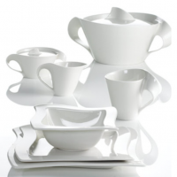 <span>The Villeroy and Boch New Wave range has a distinctive wave pattern design and is made from white porcelain. This combination of simple and elegant colour with unique design gives the collection a style of its own, helping it become one of the experienced porcelain manufacturer's most popular ranges for the past 15 years.</span>