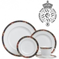 "<p class=""bodytext"">Set a sumptuous table with a historical pattern whose unique story will enchant and intrigue dinner guests. In 1811, England's Prince Regent ordered the creation of a dinnerware set to match his exceptionally opulent lifestyle. Each piece was to display a different design and no detail or luxury was to be spared. Today's modern version by Royal Worcester beautifully recalls those regal requirements with translucent white bone china banded by elegant floral-patterned borders in cobalt, burgundy, and gleaming 22-carat gold.</p>