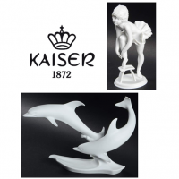 Kaiser White Porcelain Bisque made in Germany.<br /><br />These are pieces we have remaining in stock.