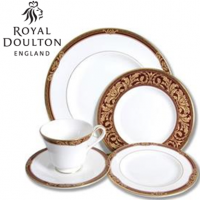 If you want to dine in traditional style, Tennyson is here for you to enjoy. Made in the Classic shape, it features intricate rococo scrollwork, complete with 22 carat gold trim. First launched in 1997 by Royal Doulton, Tennyson bone china tableware was designed by Bobby Clayton and it brings a luxurious edge to the whole fine dining experience. <br /><br />This English fine bone china is made in England.