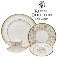 "<p class=""bodytext"">Lichfield fine bone china brings an Old World grace to your special occasion dining. Flowing floral motifs in plum, coral, and green harmonize beautifully with the narrow geometric borders and 22-karat gold rims. Emphatically arched handles and spouts, spectacular floral accent plates, and quietly refined serving pieces add up to a varied and freshly appealing table setting. Bone china is much more durable and chip-resistant than many consumers realize, and Lichfield is also dishwasher-safe, preferably at a low heat setting to protect the gold. The gold trim on this pattern means it is not safe for use in the microwave.</p>