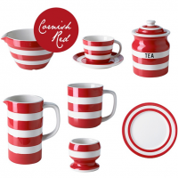 <span>Our classic Cornishware is also available in red, perfect for Christmas or any time of the year. Our red and white stripes make for prefect presents and some come in stripey gift boxes.</span>