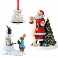 Shop for Christmas figurines, ornaments and tree decorations at Morrab Studio.