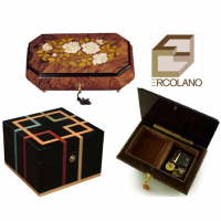 Superb wooden inlaid jewellery boxes Made in Sorrento, Italy. Some with a musical inside. All hand made to a very high standard.