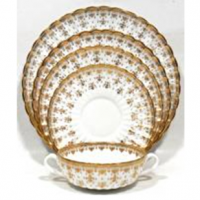 <span><strong><span>This is a discontinued pattern. Last items available from our stock.</span></strong></span><br /><span>The&nbsp;</span><span>Spode&nbsp;interpretation with this pattern holds a clear reverence for the design, beautifully displayed in strong&nbsp;gold&nbsp;over a calm white background. This range is a discontinued pattern.</span>