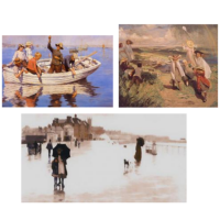 Our exclusive selection includes many Cornish scenes - some of them recognisable places. <br />'The Newlyn School of Art' was founded by a group of artists led by Stanhope Forbes. Forbes came to Newlyn in West Cornwall in 1884 and was immediately captivated by the scenery and people in the area. The 'Newlyn School' became famous for its superb realism, in 'Plein-Air' painting.