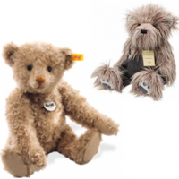 A selection of our bears and soft toys available. Please note that some of these products are collectable bears and not suitable for children.