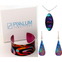 <p>Pixalum design and create stunning collections of fashion jewellery in highly patterned, colour-drenched aluminium.</p>