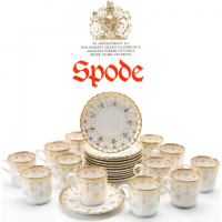<strong>This is a discontinued pattern. Last items available from our stock.</strong><br />The Spode interpretation with this pattern holds a clear reverence for the design, beautifully displayed in strong gold over a calm white background. This range is a discontinued pattern.