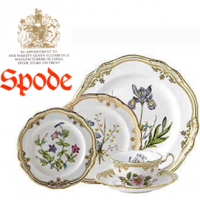 <span><strong>Now Discontinued. These items are available from the stock we have left.</strong></span><br />The stunning Stafford Flowers china pattern by Spode features a white body that is adorned with glittering gold trim and graceful botanical designs based on illustrations from 1790. Produced for more than 25 years, Stafford Flowers dinnerware is now discontinued.