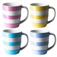 Coloured Mugs in Cornishware by T G Green...