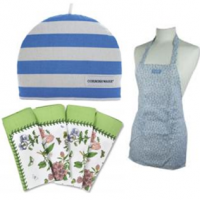 A selection from some of our ranges which supple textile products such as aprons, napkins and tea towels.